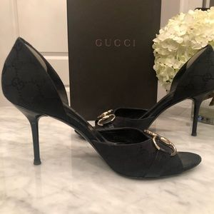 Authentic GUCCI Guccissima Horsebit d'Orsay Pump